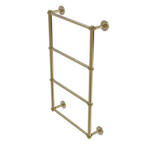 Prestige Skyline Unlacquered Brass 30-Inch Four-Tier Ladder Towel Bar with Twisted Detail