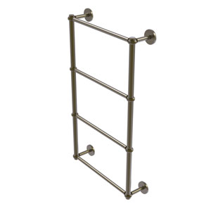 Prestige Skyline Antique Brass 36-Inch Four-Tier Ladder Towel Bar with Twisted Detail