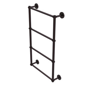 Prestige Skyline Antique Bronze 36-Inch Four-Tier Ladder Towel Bar with Twisted Detail