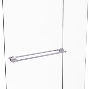 Prestige Skyline Satin Chrome 30-Inch Back to Back Shower Door Towel Bar