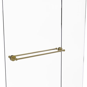 Prestige Skyline Unlacquered Brass 30-Inch Back to Back Shower Door Towel Bar