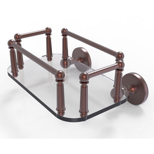 Prestige Skyline Antique Copper Eight-Inch Wall Mounted Glass Guest Towel Tray