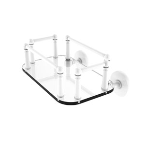 Prestige Skyline Matte White Eight-Inch Wall Mounted Glass Guest Towel Tray