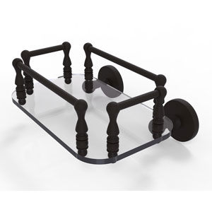 Prestige Skyline Oil Rubbed Bronze Eight-Inch Wall Mounted Glass Guest Towel Tray