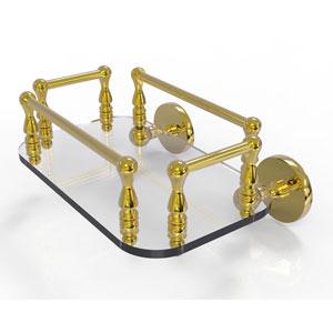Prestige Skyline Polished Brass Eight-Inch Wall Mounted Glass Guest Towel Tray