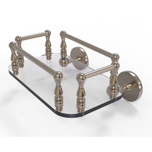 Prestige Skyline Antique Pewter Eight-Inch Wall Mounted Glass Guest Towel Tray