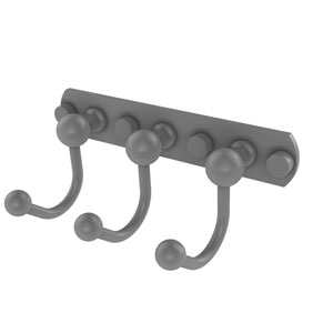Prestige Skyline Matte Gray Four-Inch Three-Position Multi Hook