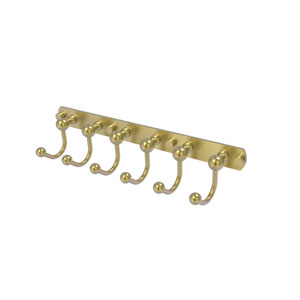Prestige Skyline Satin Brass Four-Inch Six-Position Tie and Belt Rack