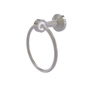 Pacific Beach Satin Nickel 20-Inch Towel Ring