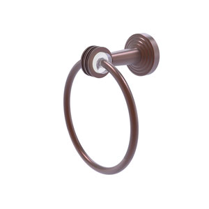 Pacific Beach Antique Copper 28-Inch Towel Ring with Dotted Accents