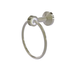 Pacific Beach Polished Nickel 34-Inch Towel Ring with Dotted Accents