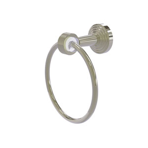 Pacific Beach Polished Nickel 51-Inch Towel Ring with Groovy Accents