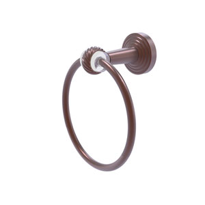 Pacific Beach Antique Copper 62-Inch Towel Ring with Twist Accents