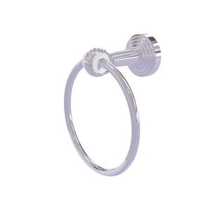 Pacific Beach Polished Chrome 66-Inch Towel Ring with Twist Accents