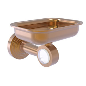Pacific Beach Brushed Bronze Three-Inch Wall Mounted Soap Dish Holder