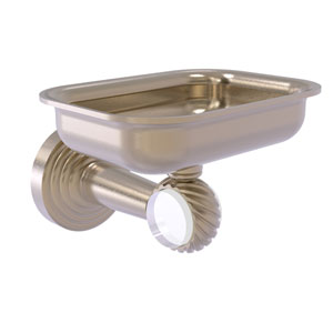 Pacific Beach Antique Pewter Three-Inch Wall Mounted Soap Dish Holder with Twisted Accents