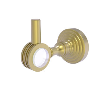 Pacific Grove Satin Brass Three-Inch Robe Hook with Dotted Accents