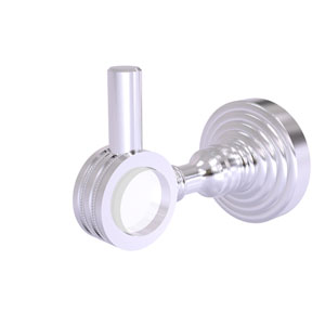 Pacific Grove Satin Chrome Three-Inch Robe Hook with Dotted Accents