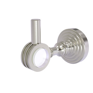 Pacific Grove Satin Nickel Three-Inch Robe Hook with Dotted Accents