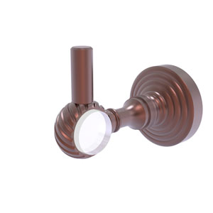 Pacific Grove Antique Copper Three-Inch Robe Hook with Twisted Accents