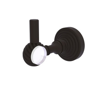 Pacific Grove Oil Rubbed Bronze Three-Inch Robe Hook with Twisted Accents