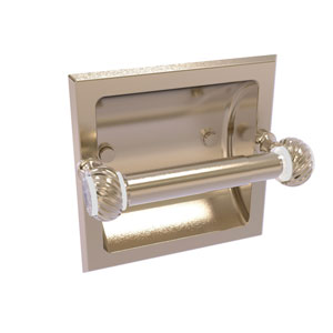 Pacific Grove Antique Pewter Six-Inch Recessed Toilet Paper Holder with Twisted Accents