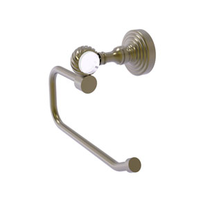 Pacific Grove Antique Brass Six-Inch Toilet Tissue Holder with Twisted Accents