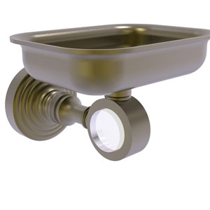 Pacific Grove Antique Brass Three-Inch Wall Mounted Soap Dish Holder