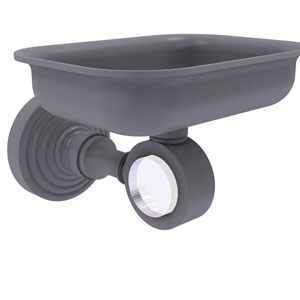 Pacific Grove Matte Gray Three-Inch Wall Mounted Soap Dish Holder