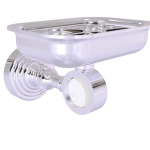 Pacific Grove Polished Chrome Three-Inch Wall Mounted Soap Dish Holder