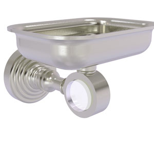 Pacific Grove Satin Nickel Three-Inch Wall Mounted Soap Dish Holder