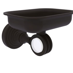 Pacific Grove Oil Rubbed Bronze Three-Inch Wall Mounted Soap Dish Holder with Dotted Accents