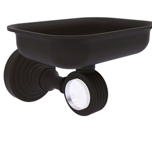 Pacific Grove Oil Rubbed Bronze Three-Inch Wall Mounted Soap Dish Holder with Groovy Accents