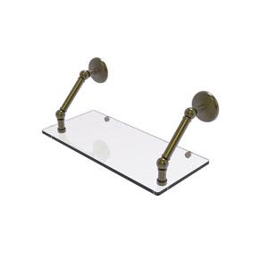 Prestige Monte Carlo Antique Brass 18-Inch Floating Glass Shelf