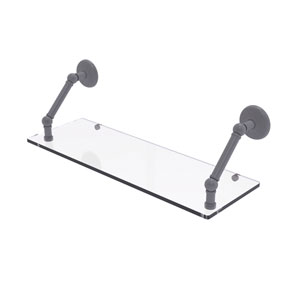 Prestige Monte Carlo Matte Gray 24-Inch Floating Glass Shelf