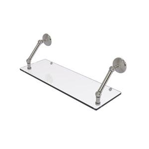 Prestige Monte Carlo Satin Nickel 24-Inch Floating Glass Shelf