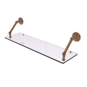 Prestige Monte Carlo Brushed Bronze 30-Inch Floating Glass Shelf