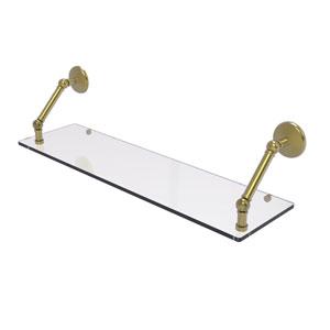 Prestige Monte Carlo Satin Brass 30-Inch Floating Glass Shelf