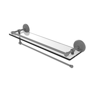 Prestige Monte Carlo Matte Gray 22-Inch Paper Towel Holder with Gallery Glass Shelf