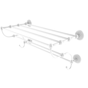 Prestige Monte Carlo Matte White 24-Inch Train Rack Towel Shelf