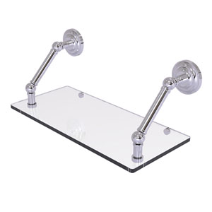 Prestige Que New Polished Chrome 18-Inch Floating Glass Shelf