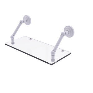 Prestige Que New Matte White 18-Inch Floating Glass Shelf