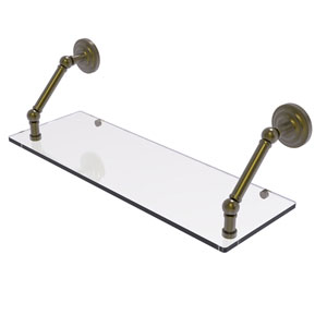 Prestige Que New Antique Brass 24-Inch Floating Glass Shelf