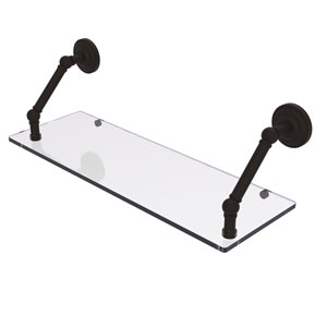 Prestige Que New Oil Rubbed Bronze 24-Inch Floating Glass Shelf
