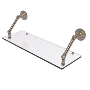 Prestige Que New Antique Pewter 24-Inch Floating Glass Shelf