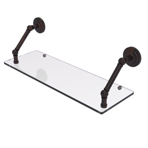Prestige Que New Venetian Bronze 24-Inch Floating Glass Shelf