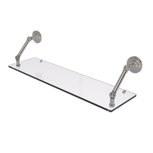 Prestige Que New Satin Nickel 30-Inch Floating Glass Shelf