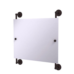 Prestige Que New Antique Bronze 26-Inch Landscape Rectangular Frameless Rail Mounted Mirror