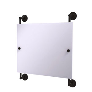 Prestige Que New Oil Rubbed Bronze 26-Inch Landscape Rectangular Frameless Rail Mounted Mirror