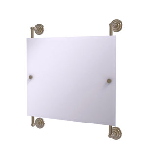 Prestige Que New Antique Pewter 26-Inch Landscape Rectangular Frameless Rail Mounted Mirror